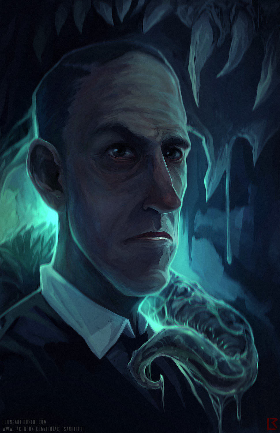 TentaclesAndTeeth's digital portrait of the master of horror