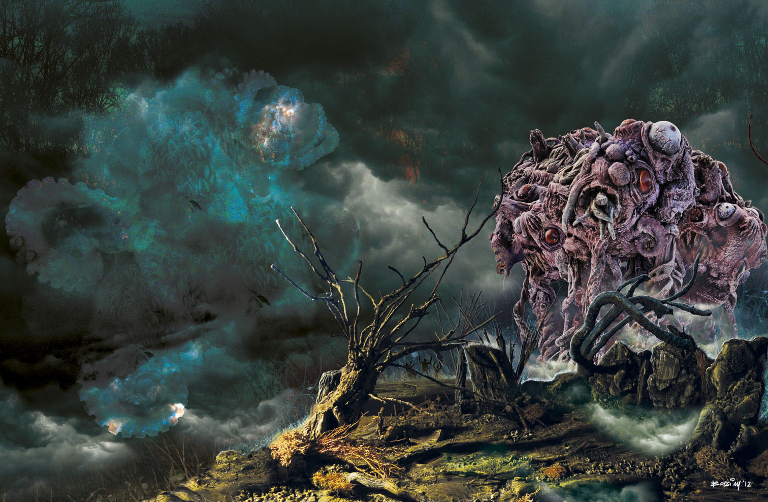 """The twin of Wilbur inspired by H.P. Lovecraft's masterpiece """"The Dunwich Horror"""""""