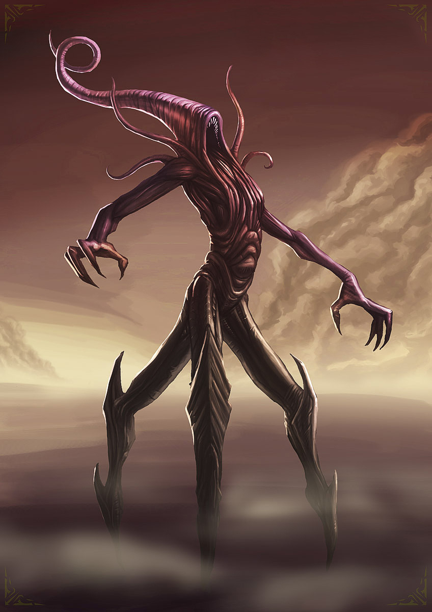 Digital painting of Nyarlathotep