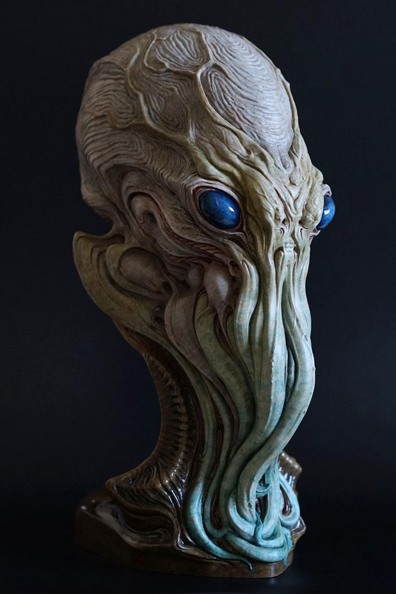 Cthulhu Bust Sculpture image