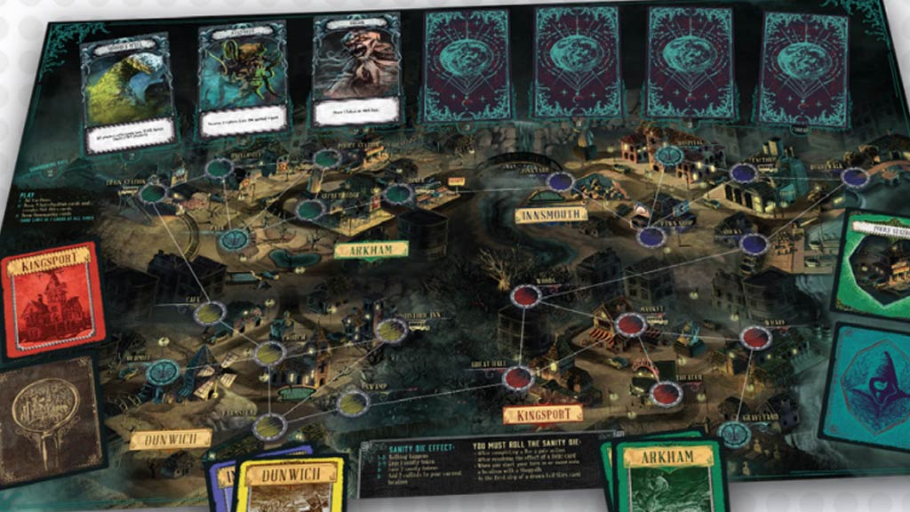 Lovecraft skinned boardgame based on Pandemic image